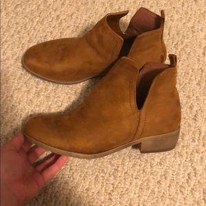 Chestnut booties
